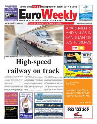 Euro Weekly News - Costa de Almeria 4 - 10 April 2019 Issue 1761
