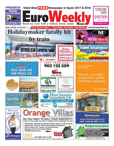 a283aa36f Euro Weekly News - Costa Blanca North 4 - 10 April 2019 Issue 1761 ...