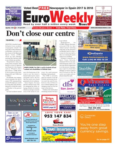 1ee43650e2cb Euro Weekly News - Costa Blanca South 4 - 10 April 2019 Issue 1761 ...