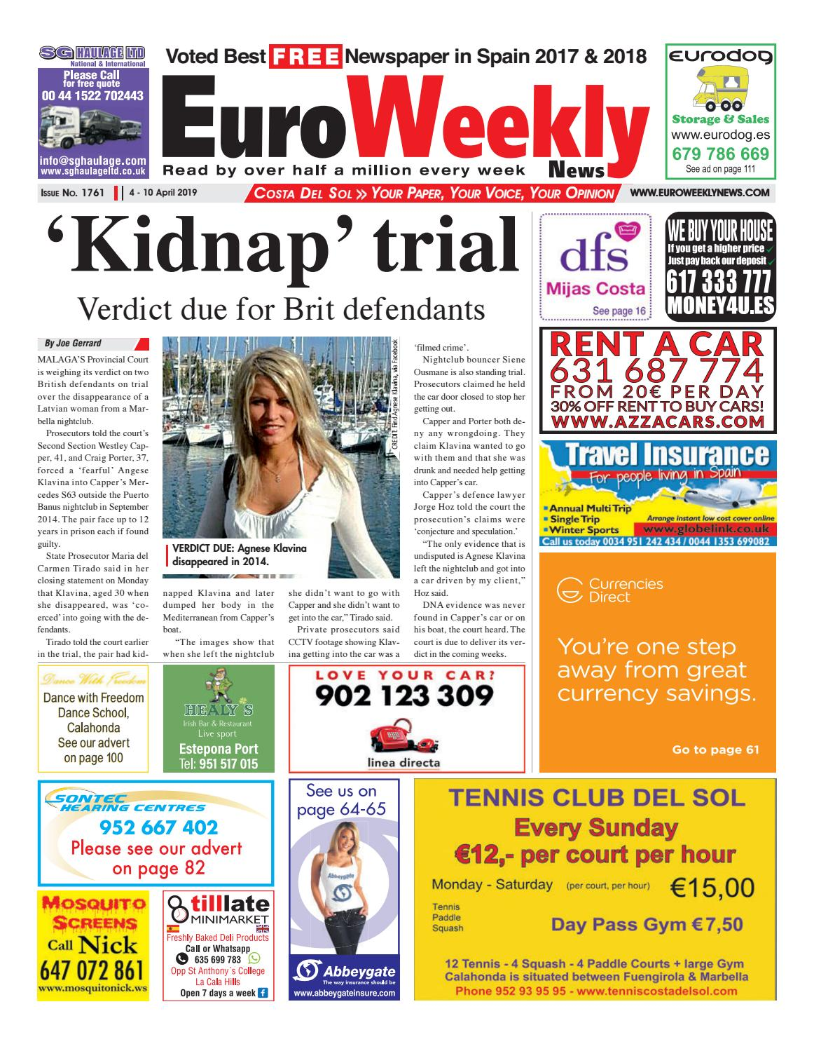 Le Bon Coin Tifon euro weekly news - costa del sol 4 - 10 april 2019 issue