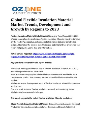 Global Flexible Insulation Material Market Trends