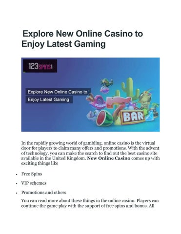 Brand New Online Casino