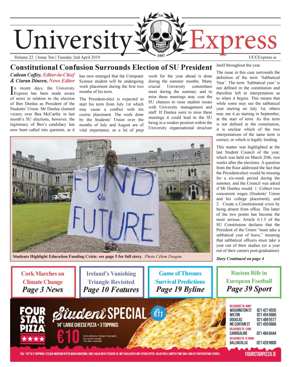 The University Express Vol  22 Issue 10 by University