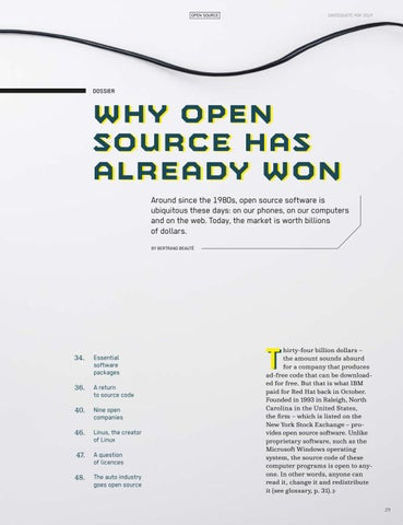 Page 31 of Why Open Source has already won
