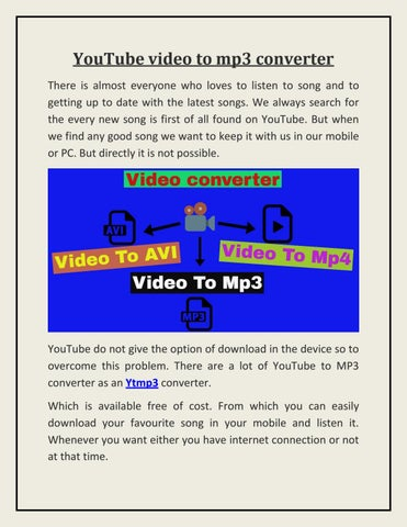 free video song convert to mp3