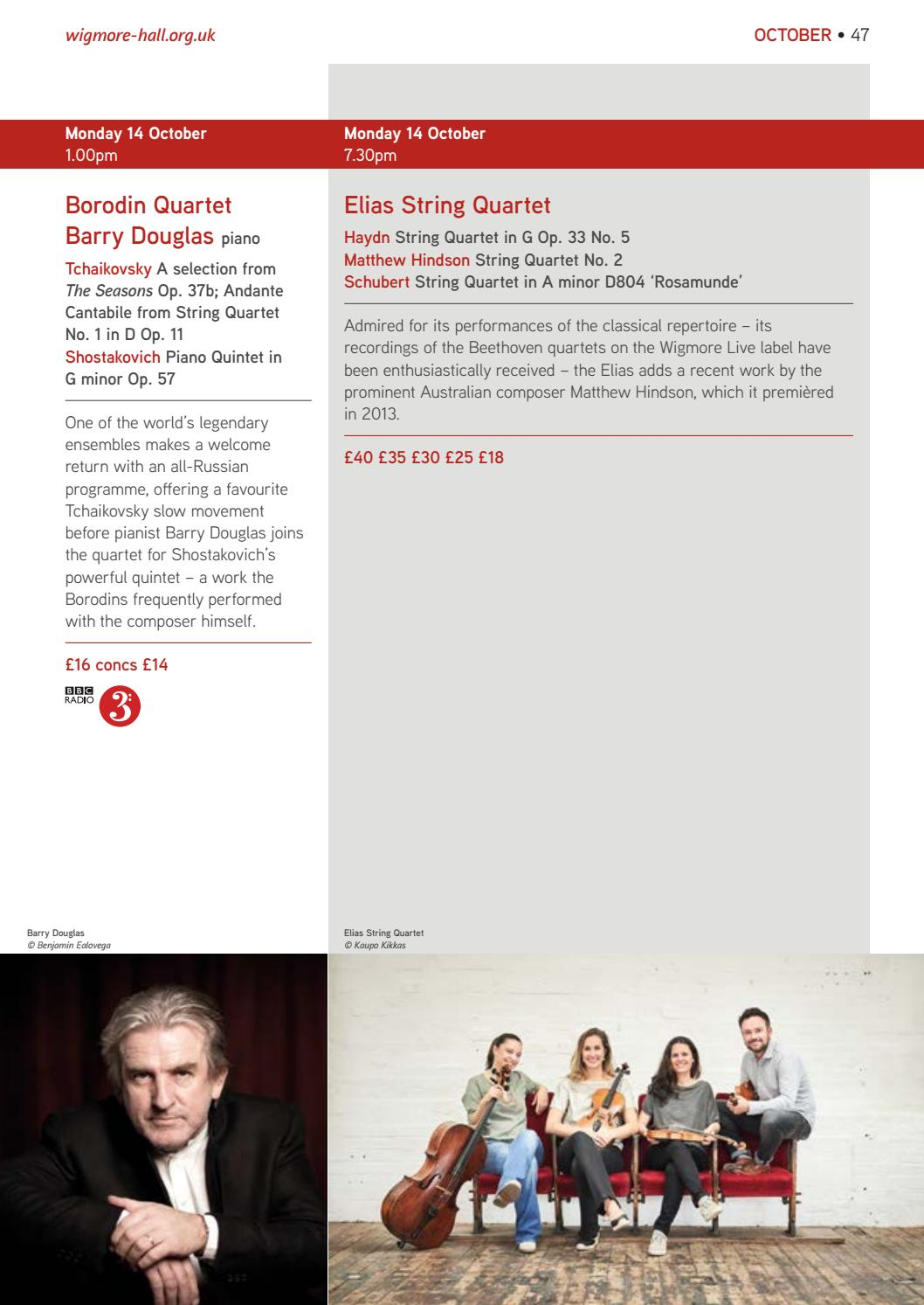 Autumn 2019 Wigmore Series by Wigmore Hall - issuu