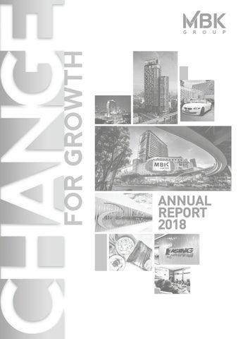 Mbk Annual Report 2018 By Surachet Fungwatthananon Issuu