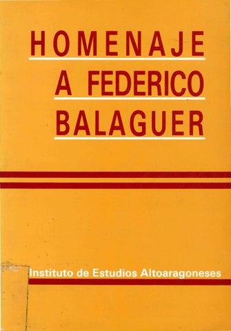 87d19754f Homenaje a Federico Balaguer by Diputación Provincial de Huesca - issuu
