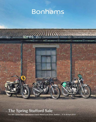 Bonhams - Auction Catalogue - Stafford Classsic Bike Show - April
