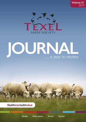 Texel Sheep Society 2019 Journal - A Year in Review by Texel