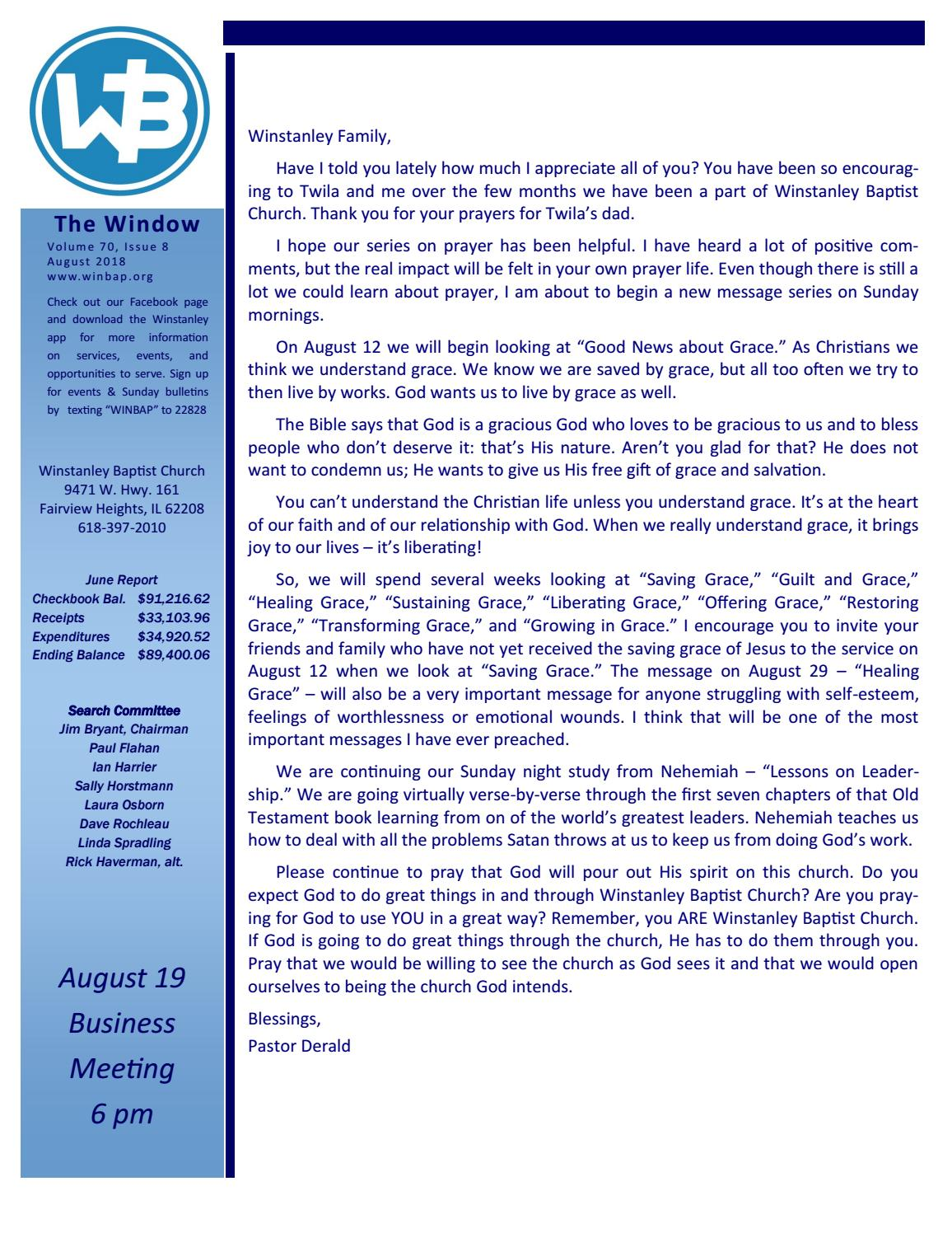 Last Sunday In August Felt More Like >> Volume 70 Issue 8 August 2018 By Winstanley Baptist Church Issuu