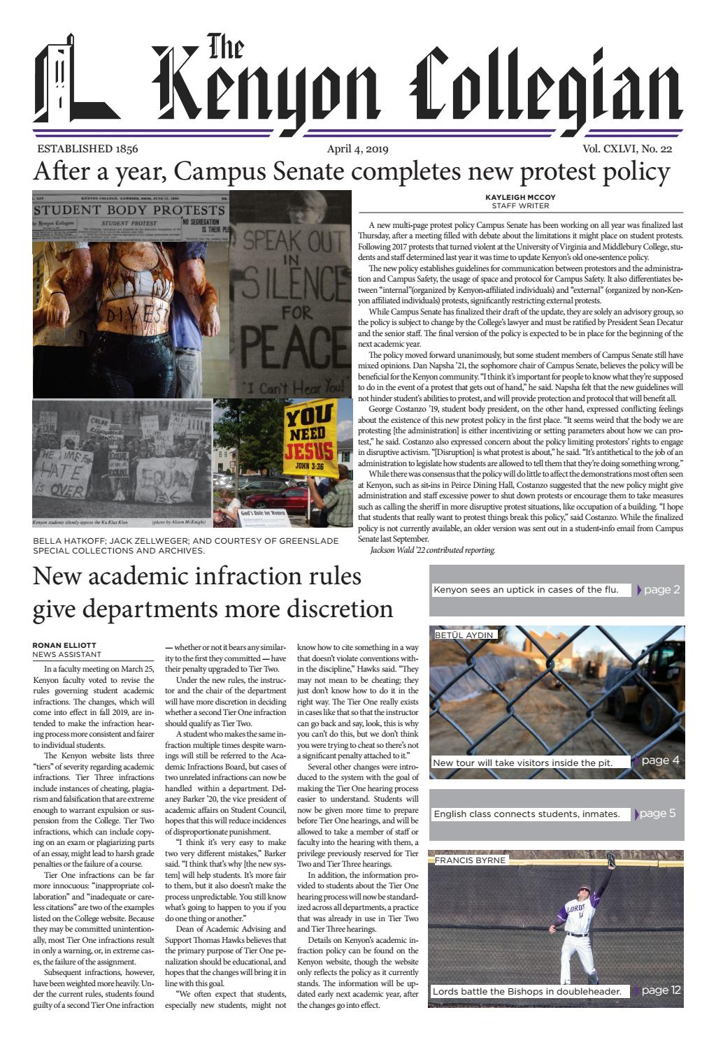 4 4 19 by The Kenyon Collegian - issuu