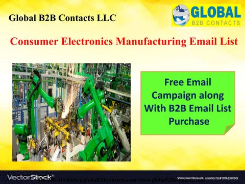 Consumer Electronics Manufacturing Email List by Ashley Tyler - issuu