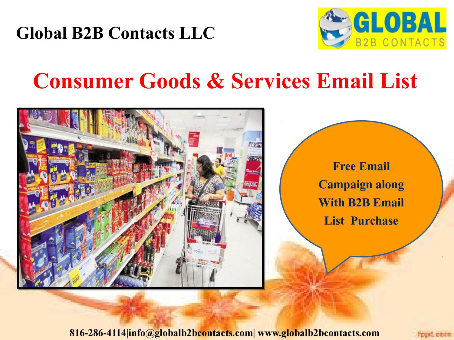 Consumer Goods & Services Email List by Ashley Tyler - issuu
