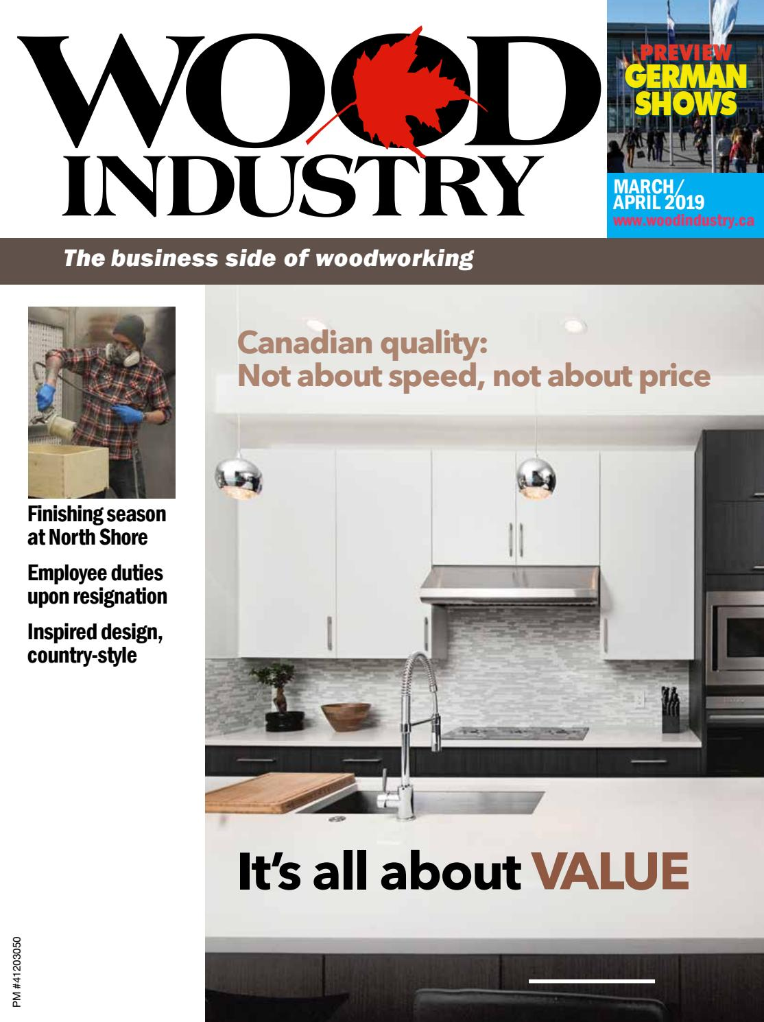 March April 2019 Wood Industry By Wimediainc Issuu