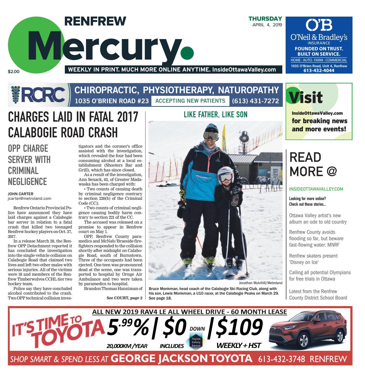 The Renfrew Mercury April 4, 2019 by Metroland East - Renfrew ...