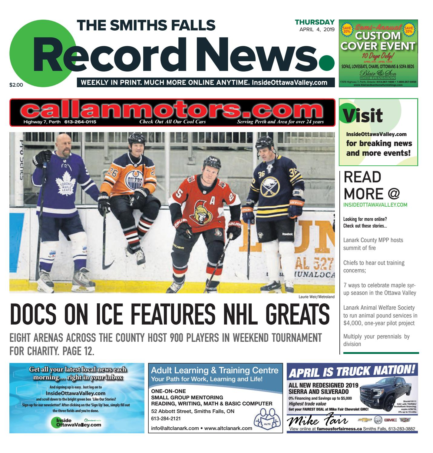 finest selection 1452c b2231 Smiths Falls Record News April 4, 2019 by Metroland East - Smiths Falls  Record News - issuu