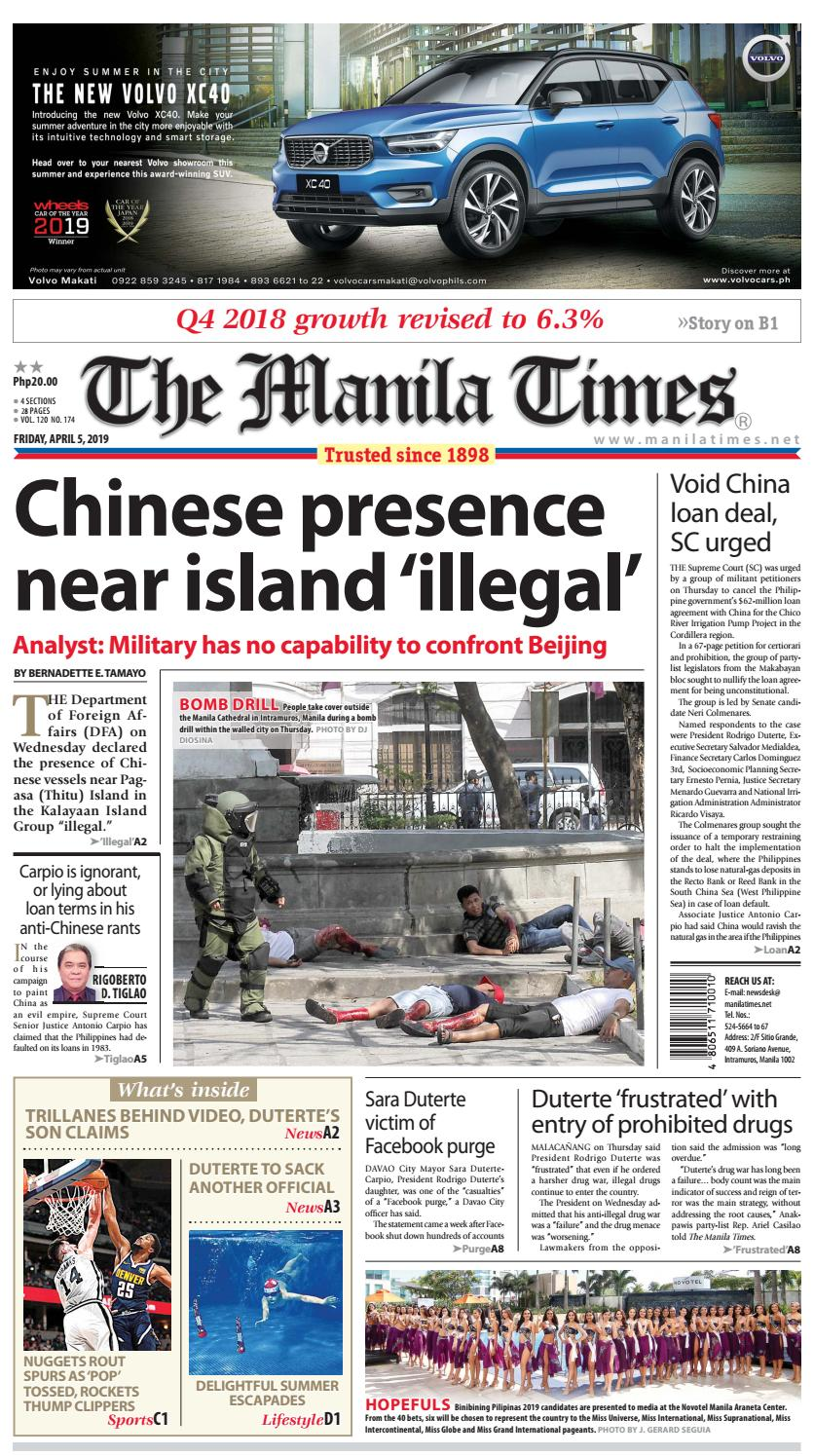 THE MANILA TIMES | APRIL 05, 2019 by The Manila Times - issuu