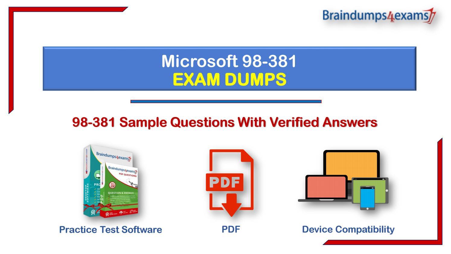 Best Exam Practice Material for 98-381 Exam Q/&A PDF+SIM