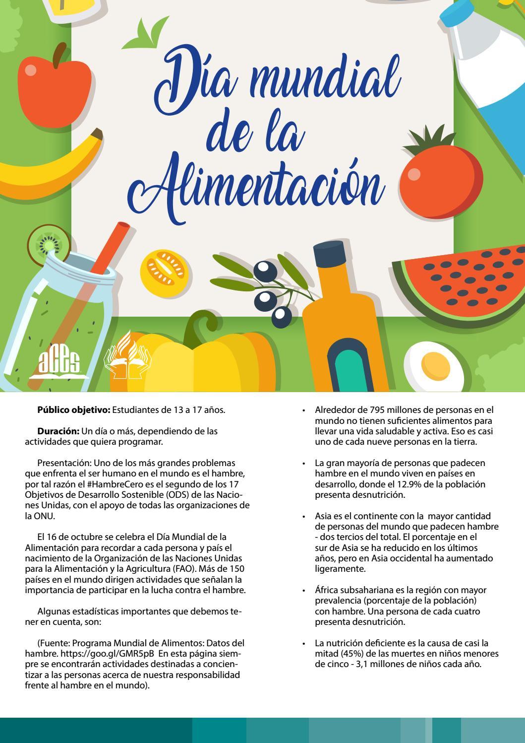 Proyecto Pedagogico Dia Mundial De La Alimentacion By Editorial Aces Issuu