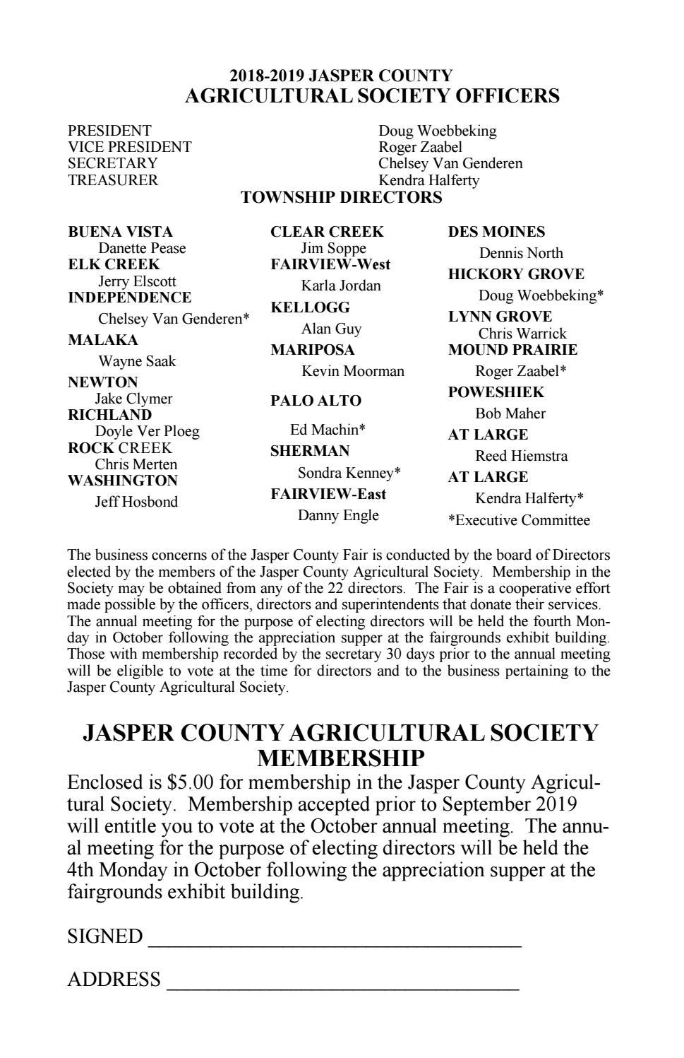 5218d7b6 Jasper County Fair 2019 Fairbook by EDJE - issuu