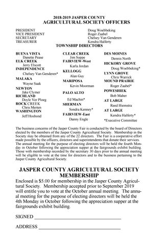 Jasper County Fair 2019 Fairbook by EDJE - issuu