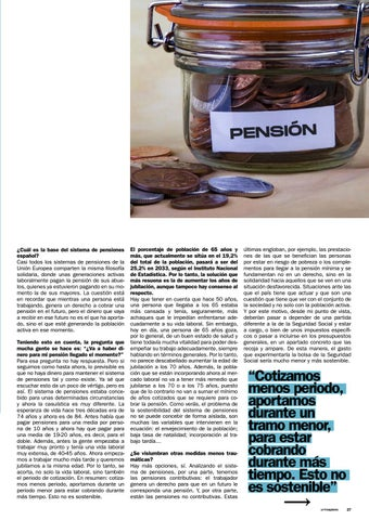 Page 27 of Pensiones: problemas y posibles soluciones