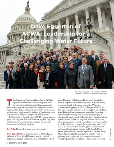 Page 6 of  Dave Eggerton of ACWA: Leadership for a Challenging Water Future