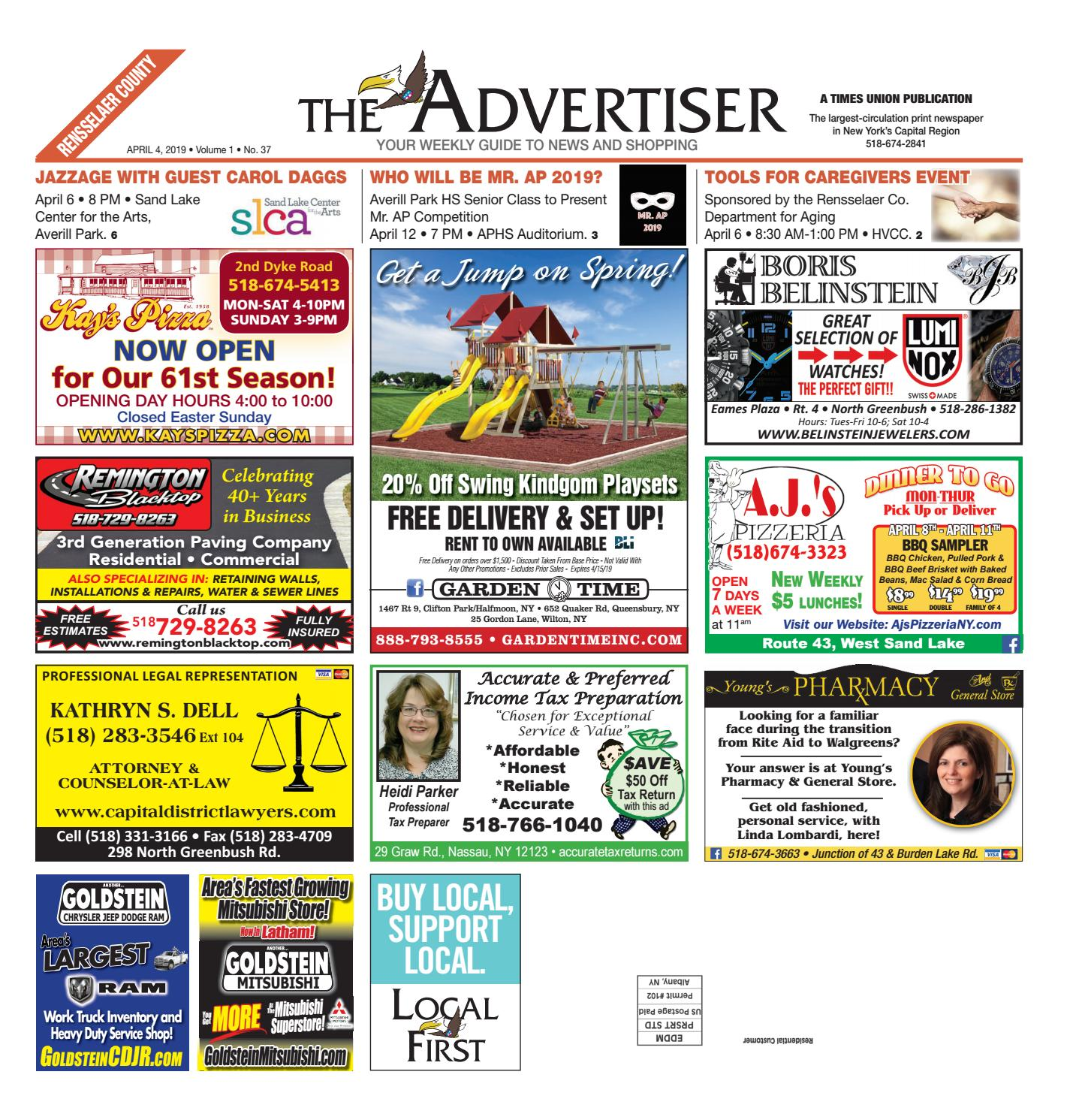 Local First The Advertiser 040419 by Capital Region Weekly