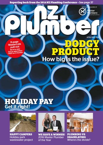 NZ Plumber April-May 2016 by NZ Plumber - issuu