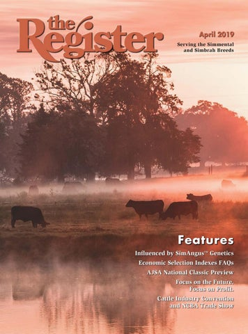 ab50f3c6d72a the Register April 2019 by American Simmental Publication, Inc - issuu