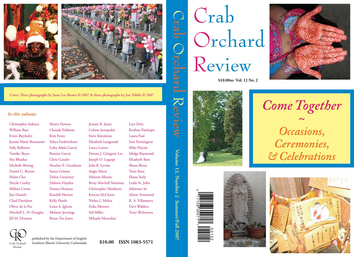 Crab Orchard Review Vol 12 No 2 S/F 2007 by Crab Orchard Review - issuu