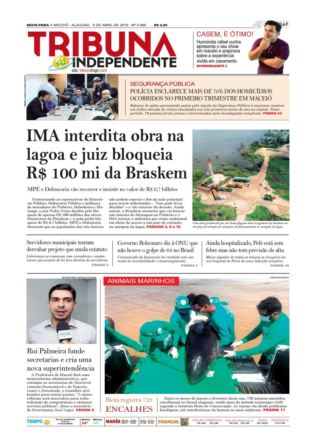 aeb482d37ea Edição número 3366 – 05 de abril de 2019 by Tribuna Hoje - issuu