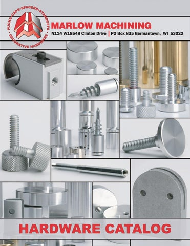 Marlow Machining Product Catalog