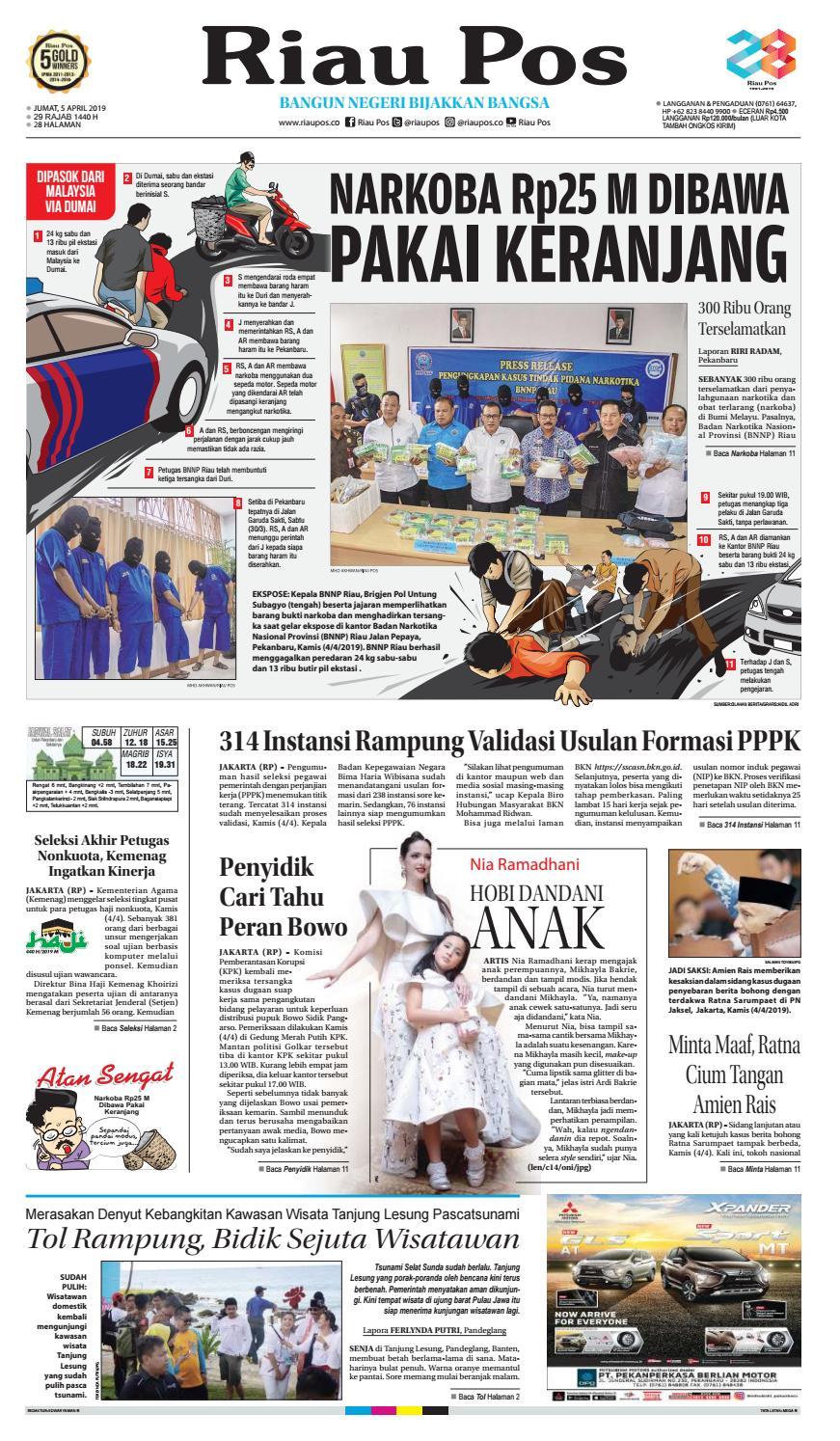 Riau Pos Pdf Edisi Jumat 05 April 2019 By Riau Pos Issuu