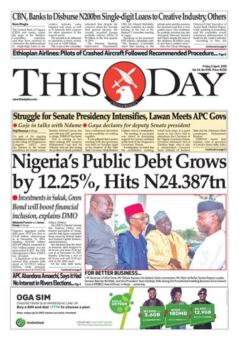 FRIDAY 5TH APRIL 2019 by THISDAY Newspapers Ltd - issuu