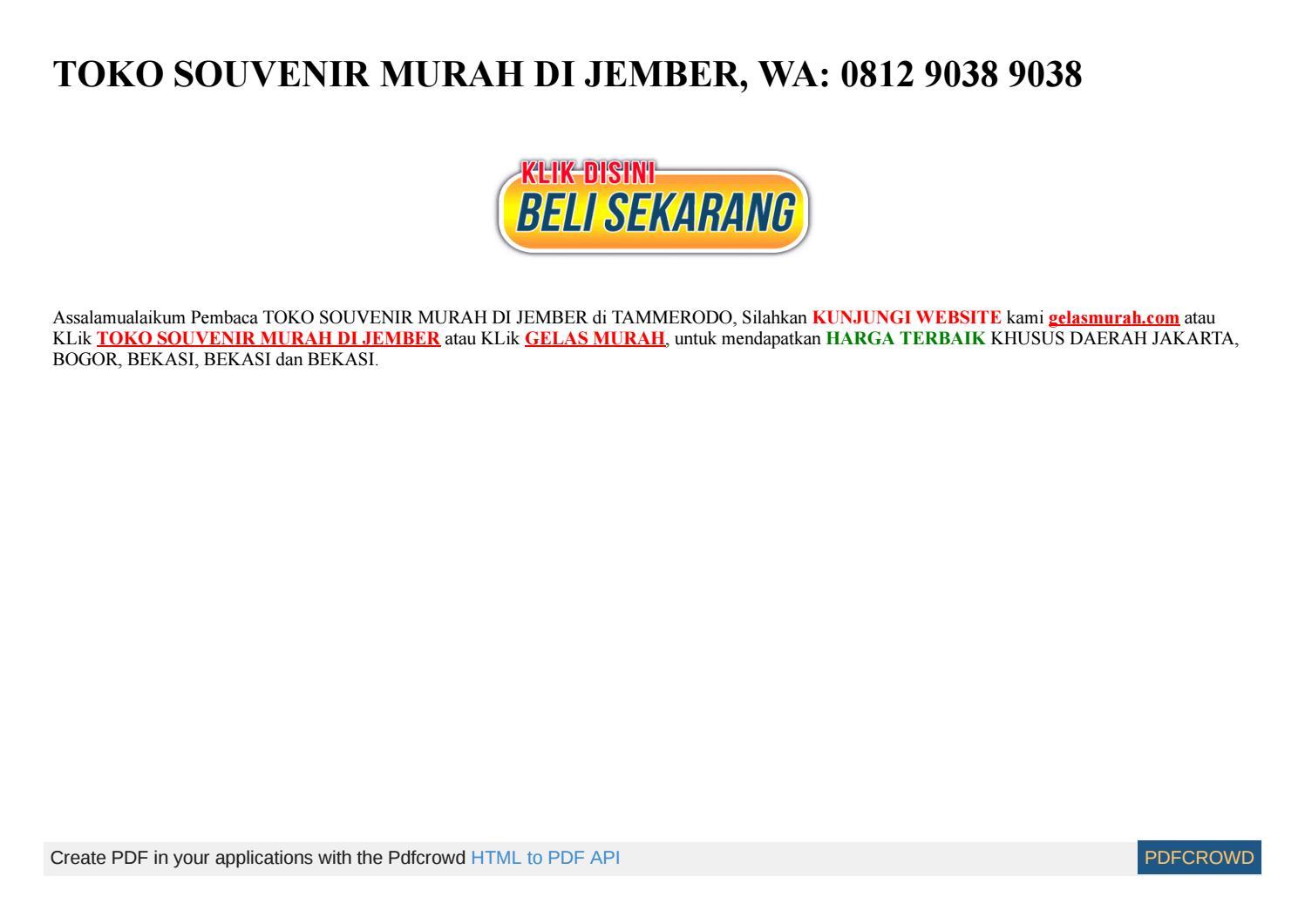 TEMPAT JUAL SOUVENIR DI BEKASI WA 0812 9038 9038 By Idham
