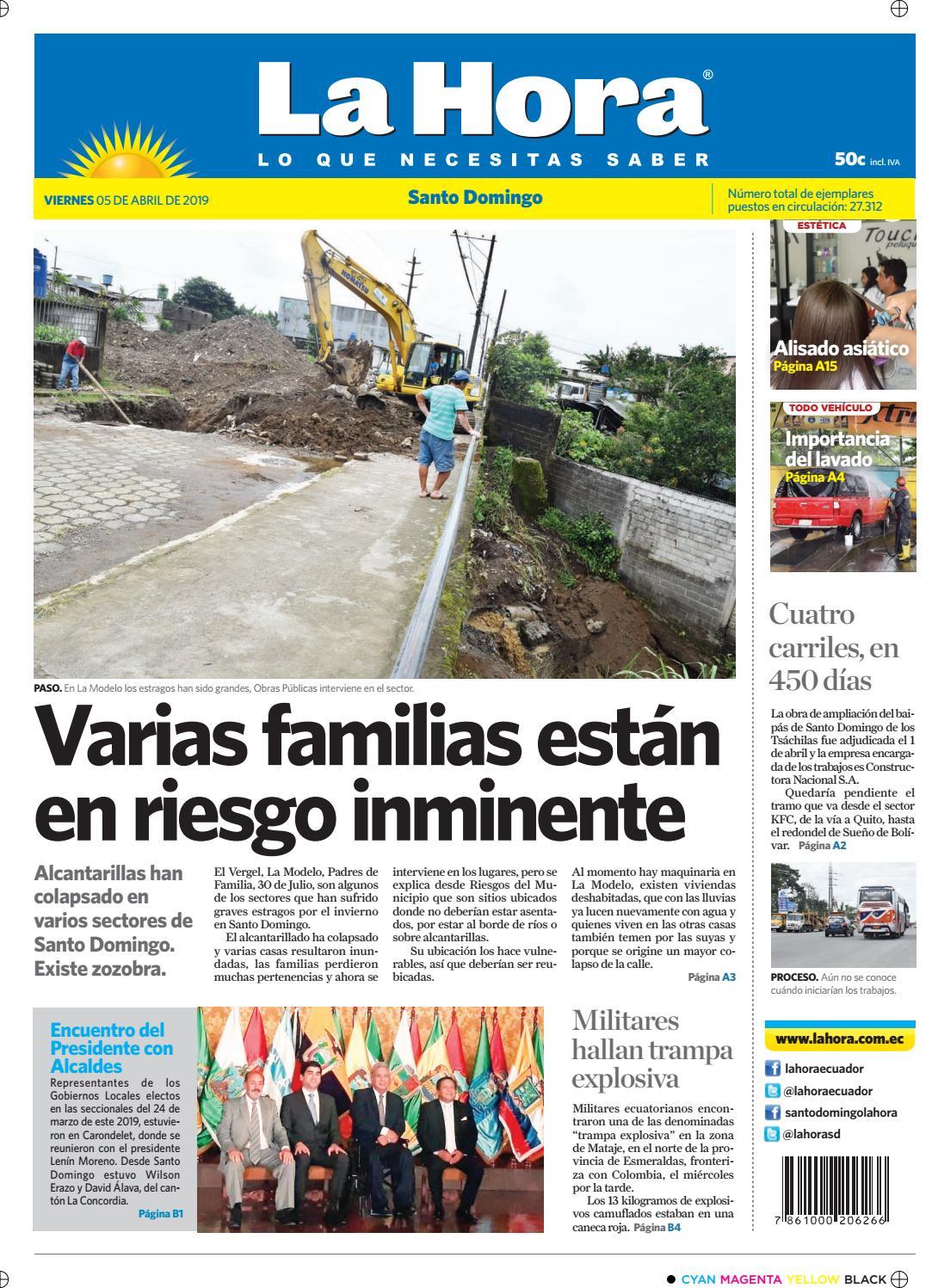 505482d635a8 Santo Domingo 05 de abril de 2019 by Diario La Hora Ecuador - issuu