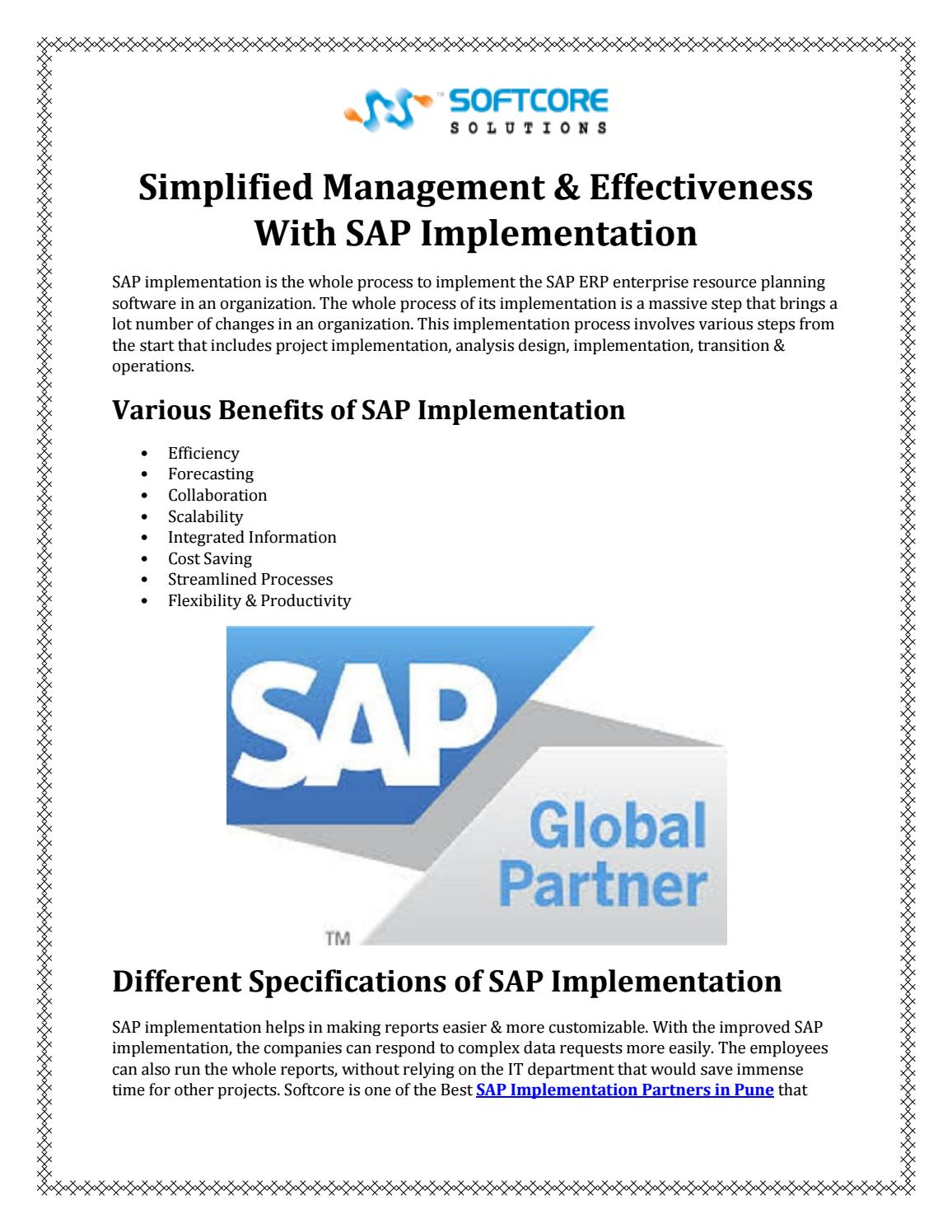 Simplified Management & Effectiveness With SAP