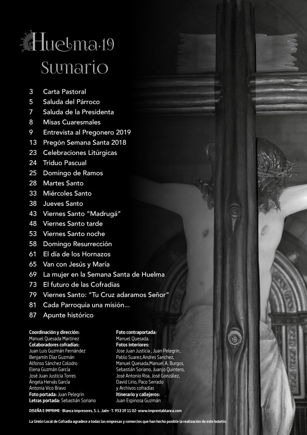 PROGRAMA DE LA SEMANA SANTA HUELMA 2019 by cijhuelmajoven
