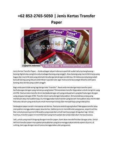 page 1 thumb large - Jenis Kertas Yang Bisa Di Print