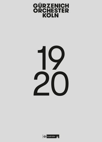 Saison 19 20 Gürzenich Orchester Köln By Gürzenich