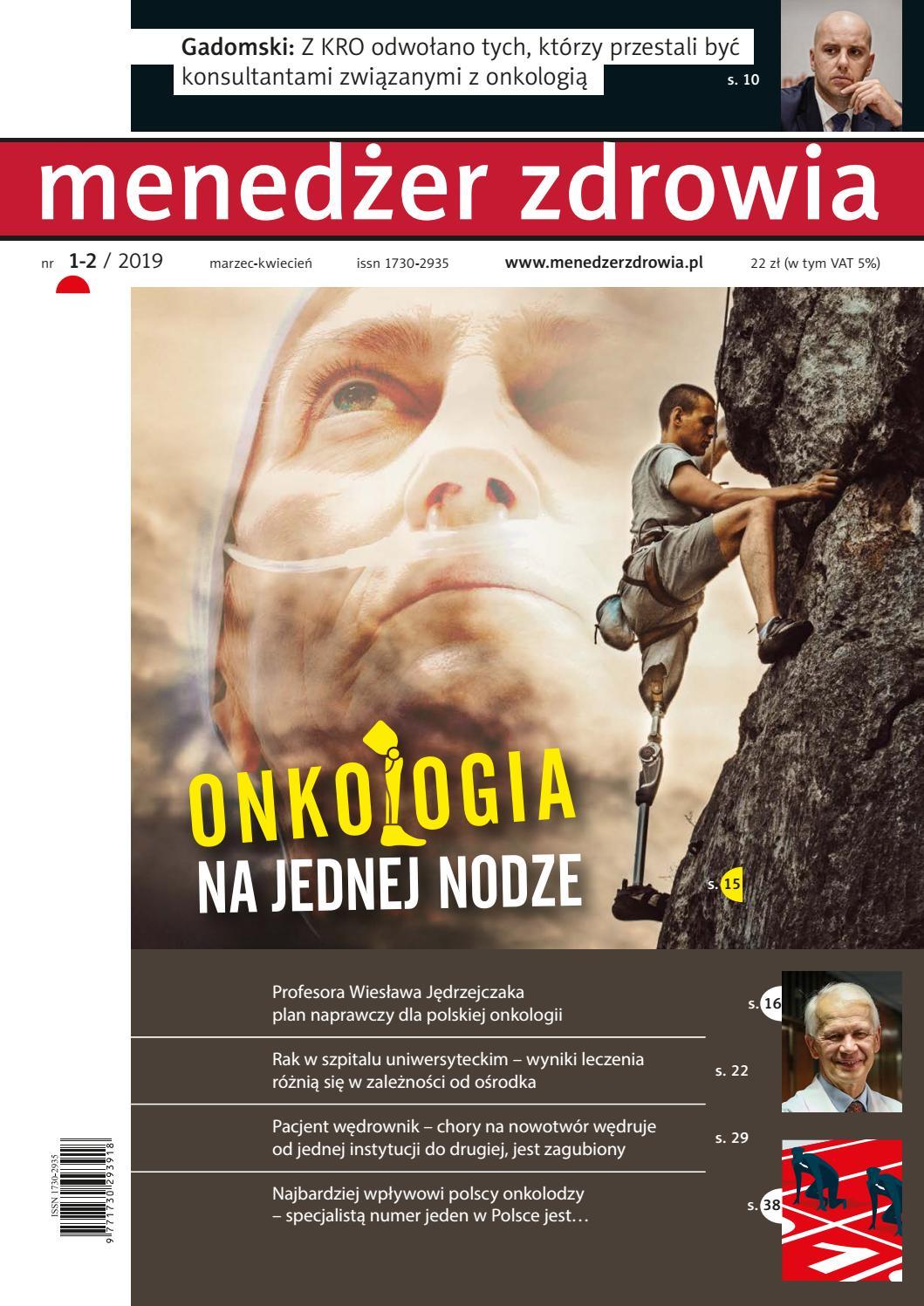 dbe98fe2c498f8 Menedżer Zdrowia 1/2019 by Termedia sp. z o.o. - issuu