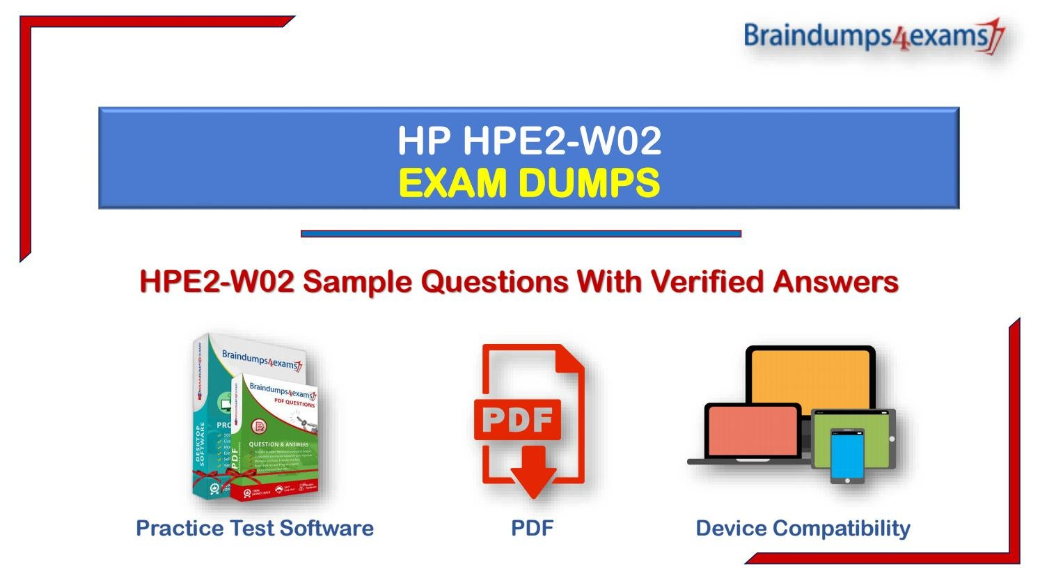 HP Selling Aruba Products and Solutions HPE2-W02 Exam Q/&A PDF+SIM