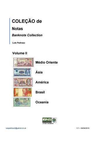 3f19e4b8cb Banknotes Vol II - Global Collection - Luis Pedroso - 419 by Luis ...
