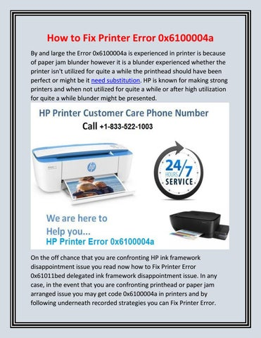 Hp Officejet 6962 Error Code 0x6100004a
