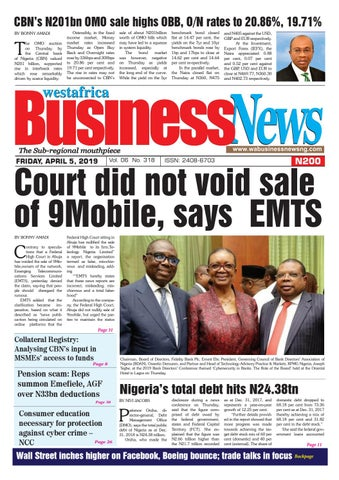 Westafrica BusinessNews Friday, April 05, 2019 by