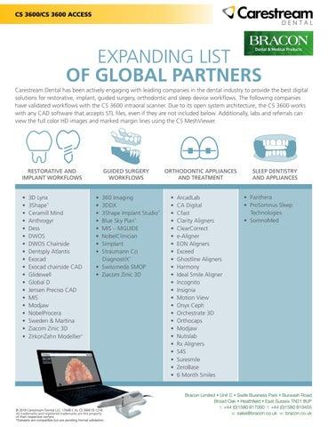 Carestream 3600 Global Validated Partners by Bracon - issuu