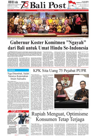 Edisi Sabtu 6 April 2019 Balipost Com By E Paper Kmb Issuu