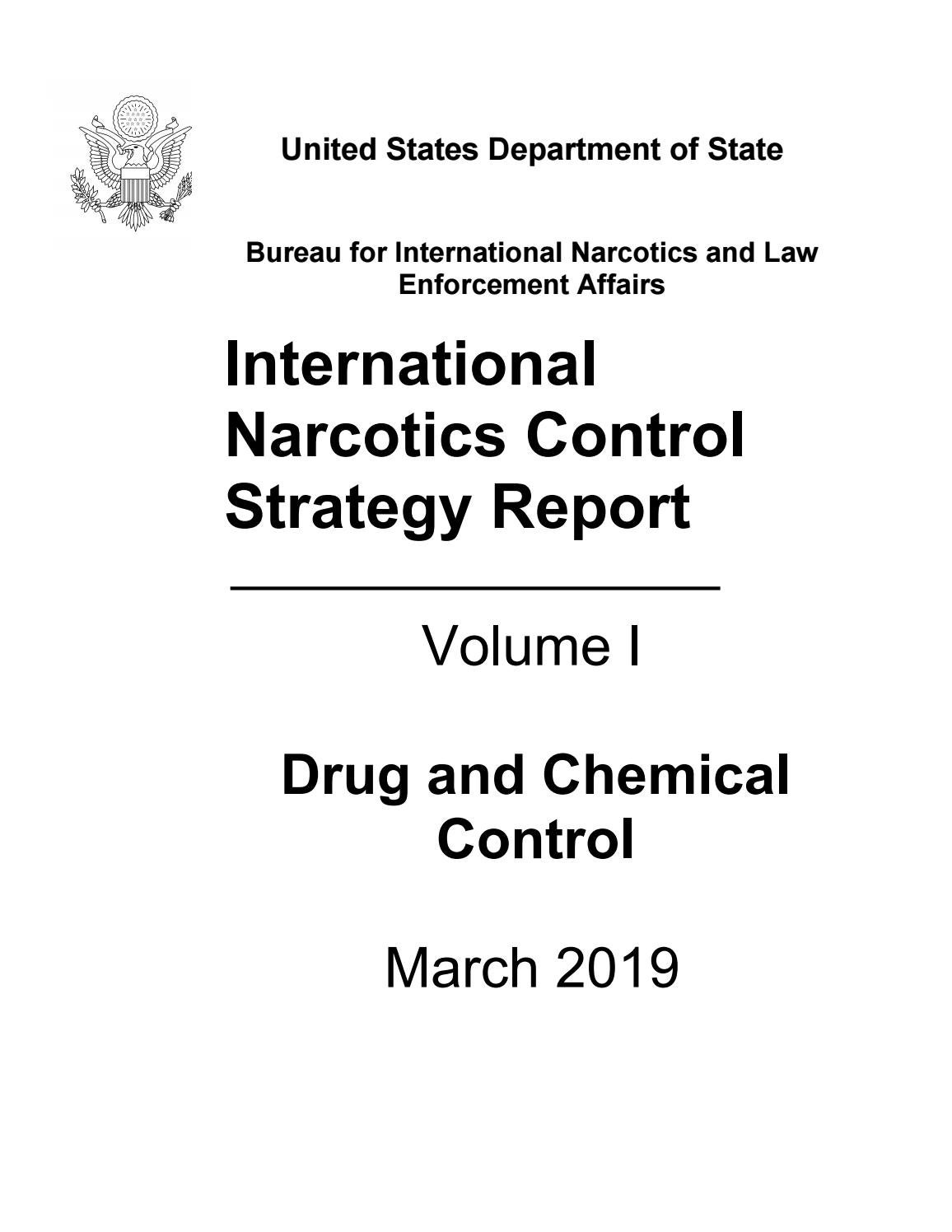 The 2019 International Narcotics Control Strategy Report